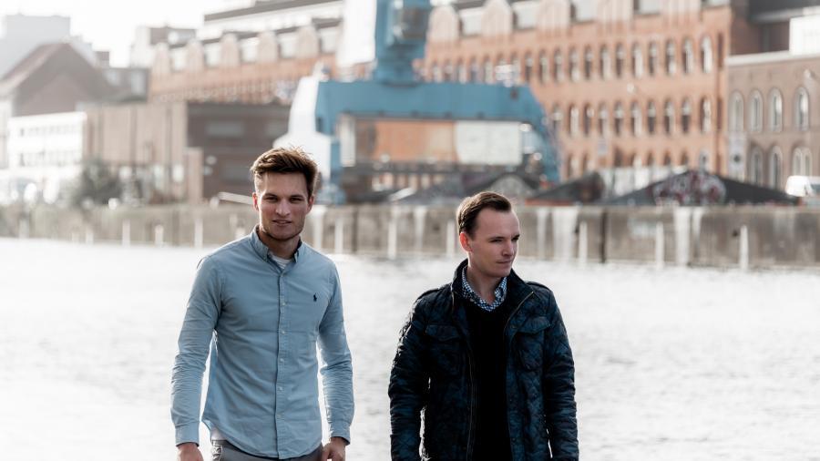 Oprichters van Smartendr Robin Praet en Louis Pannier